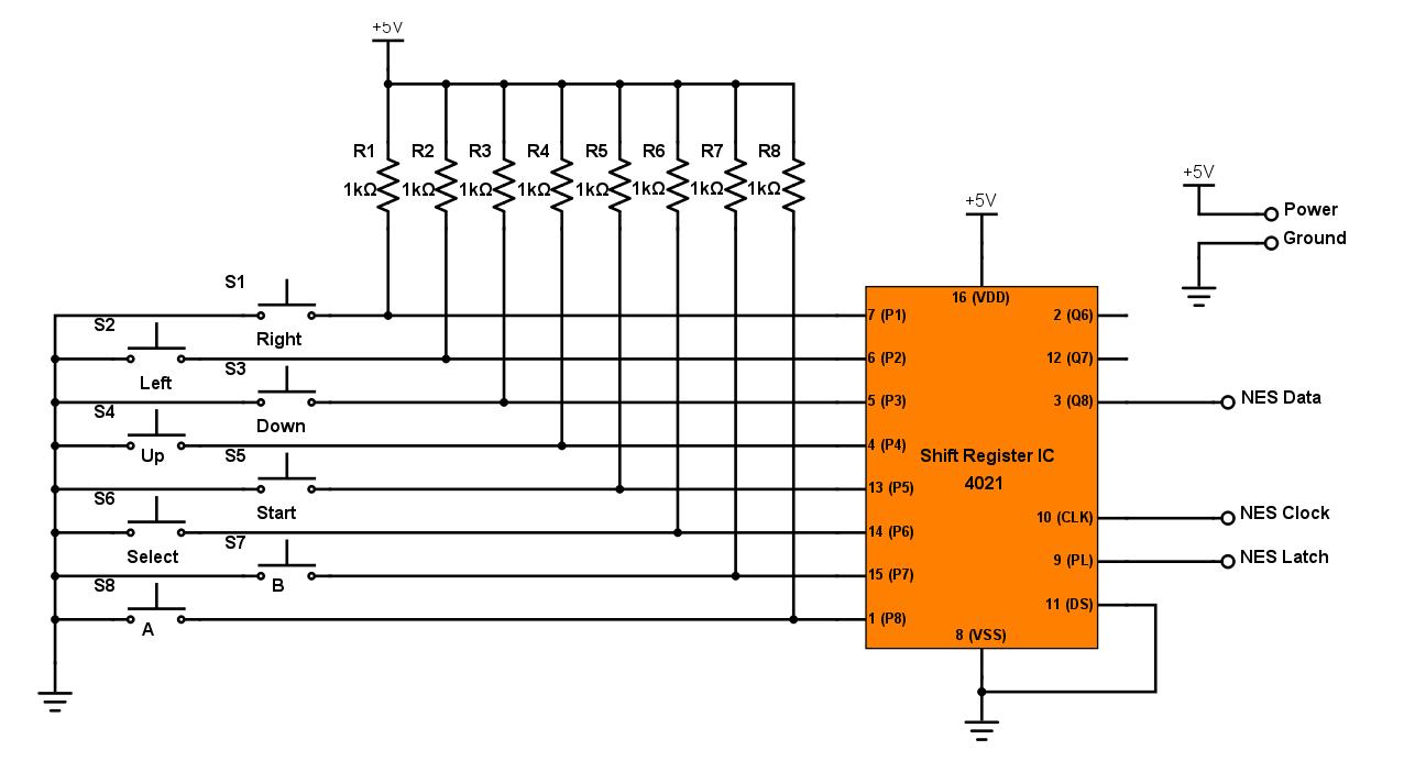 NES Controller Interface with an Arduino UNO