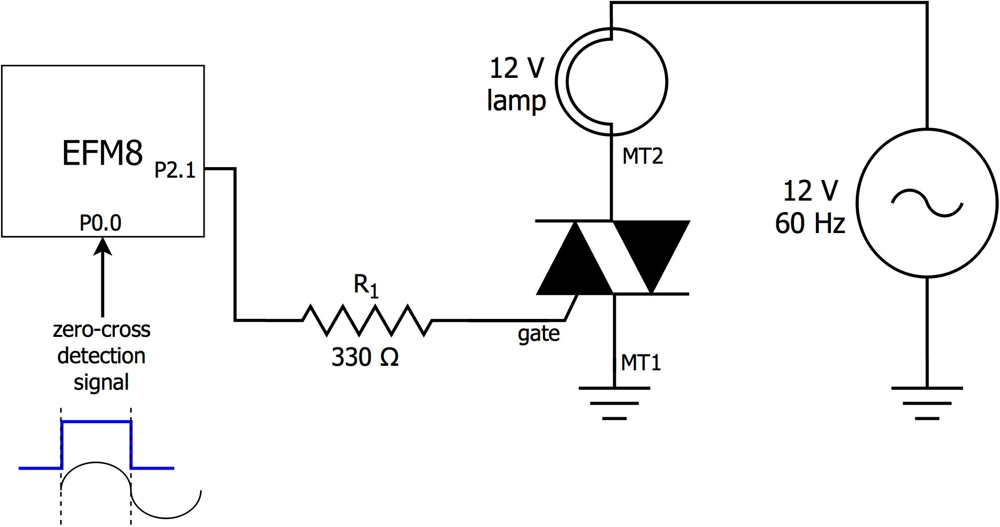 Ambient Light Monitor Using A Triac To Adjust Lamp