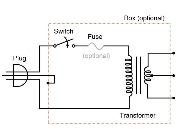 ac power plugs wire diagram  vintage spotlight wiring