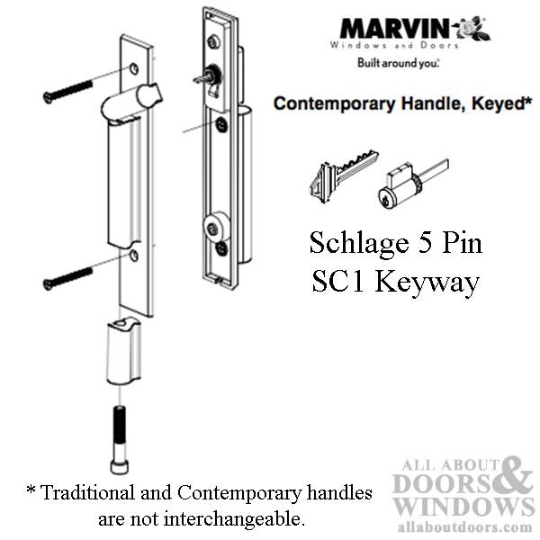 Contemporary Bronze Door Handles