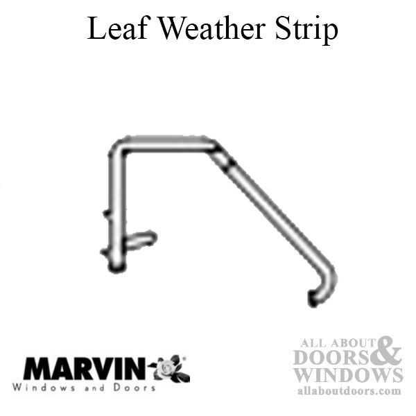 marvin v245 leaf weather strip panel guide and jamb liner 2 72 beige