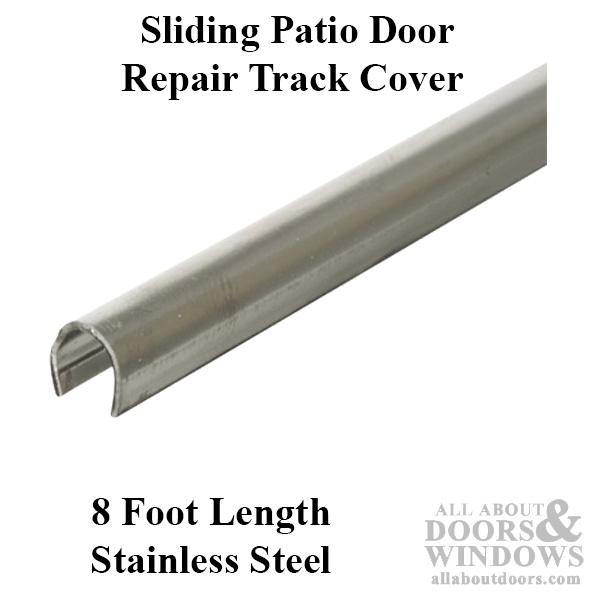 vinyl patio glass door track white