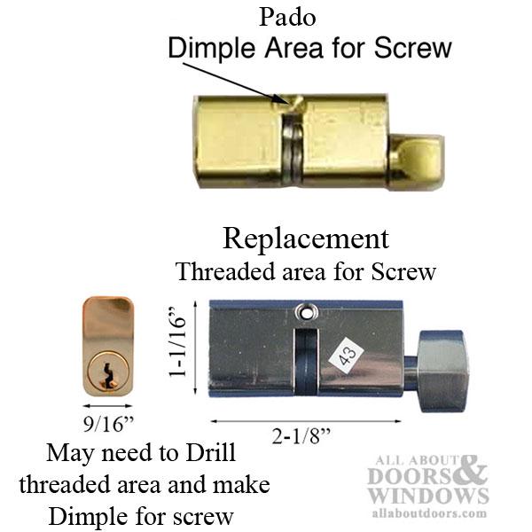 Pado Mortise Lock Cylinder Key Both Sides See Notes