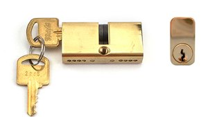 Mortise Lock Double Cylinder 27/27, Key Both Sides