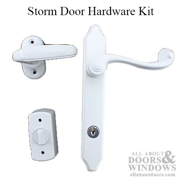 Larson Surface Mount Storm Door Hardware Kit White
