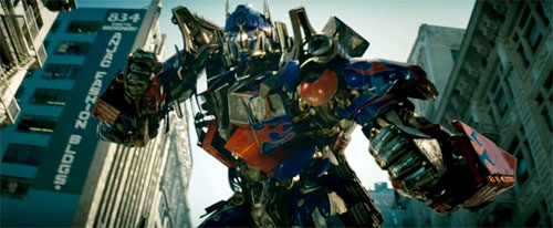 Optimus Prime in the Transformer's movie by Michael Bay.