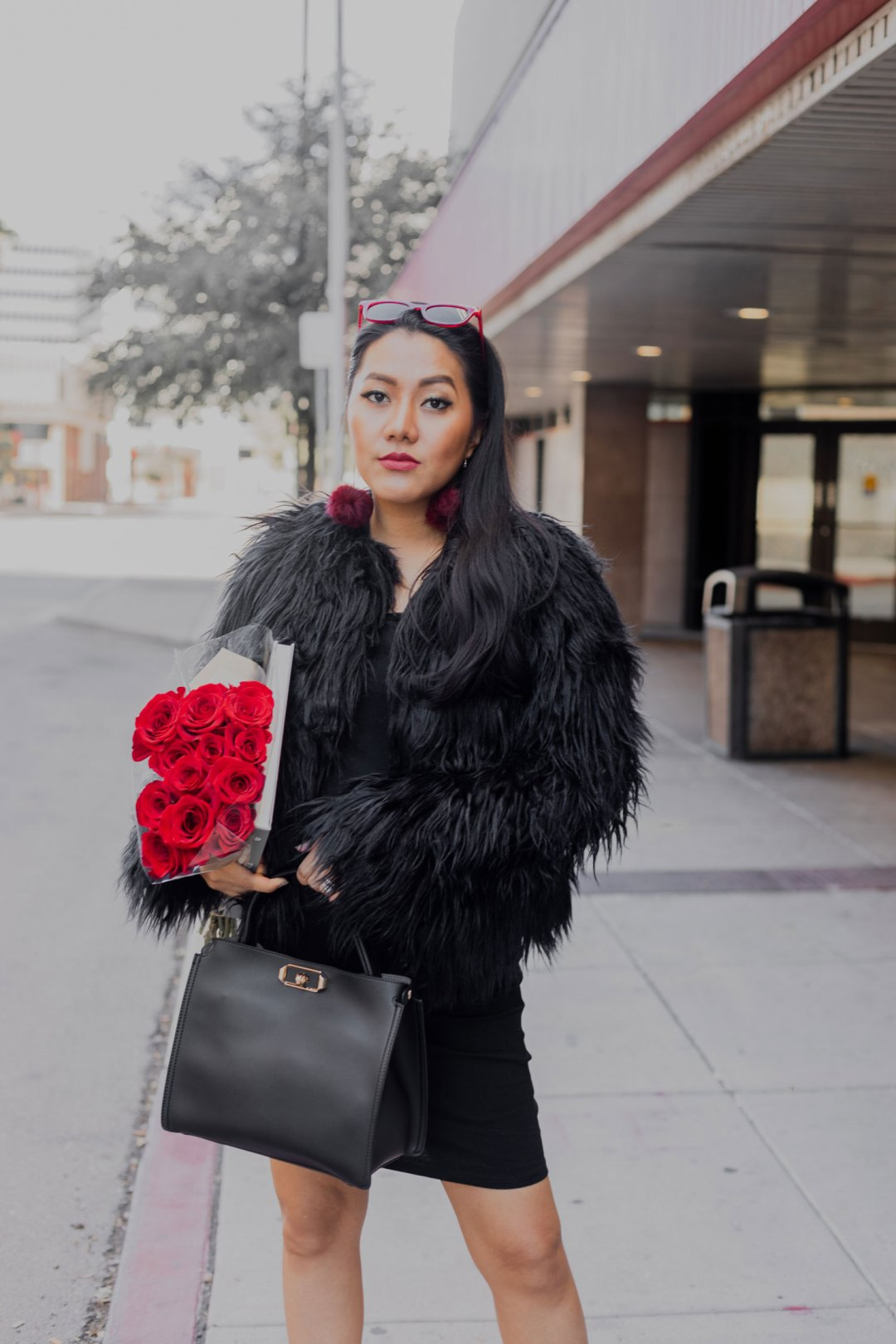 Fall/ Winter Outfit Idea | Faux Fur #GoodVibesGifting Day 5