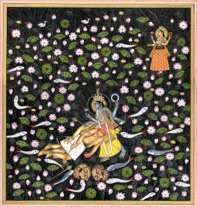Vishnu Slaying Madhu Kaitabh
