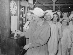 Clocking out at the end of the shift