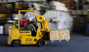 Forklift in Operation
