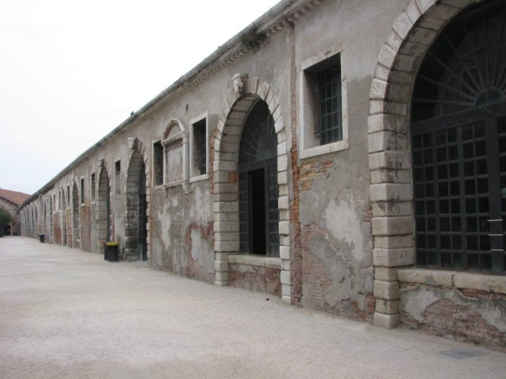 Cannon storage area in the Arsenal of Venice