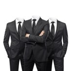 Group of businessmen without heads