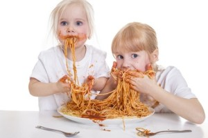 Eating Spaghetti