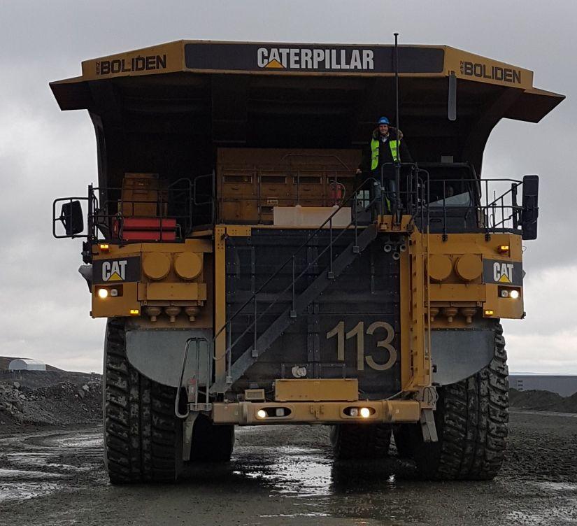 Chris Roser on Mining Truck