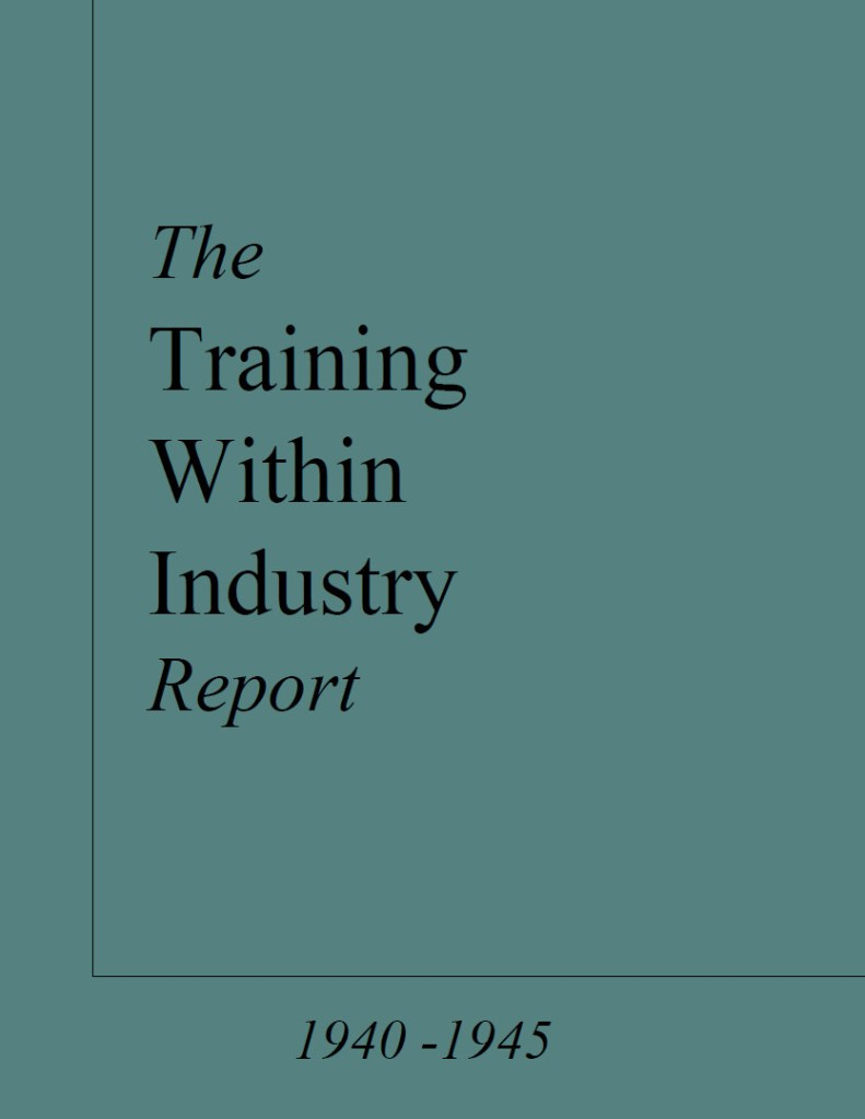 Training within Industry Report Cover
