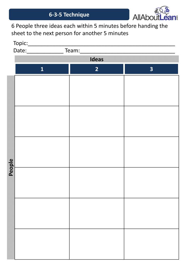 6-3-5 Sheet