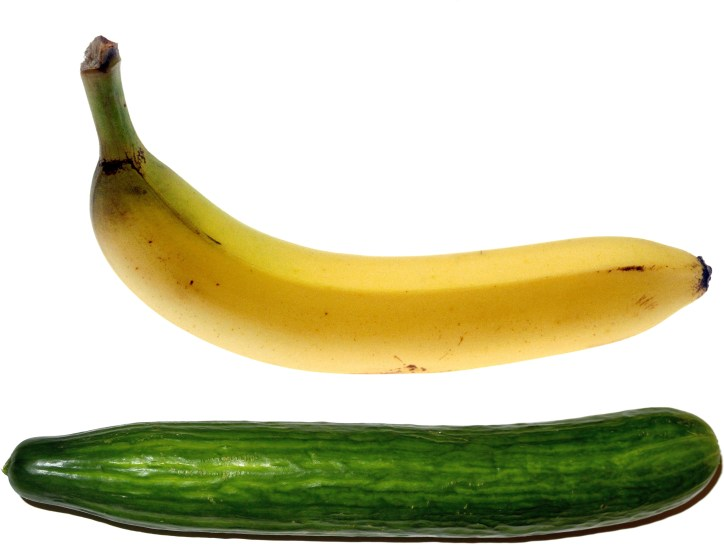 Banana and Cucumber