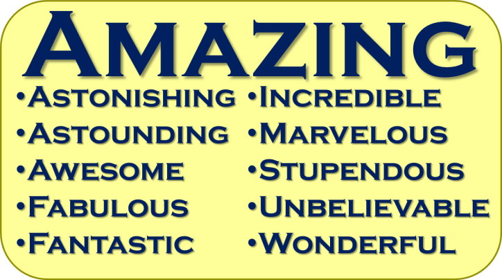 Synonyms for Amazing | AllAboutLean.com