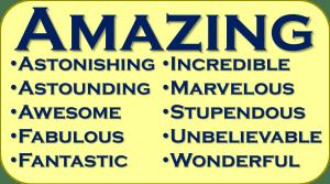 Synonym Amazing