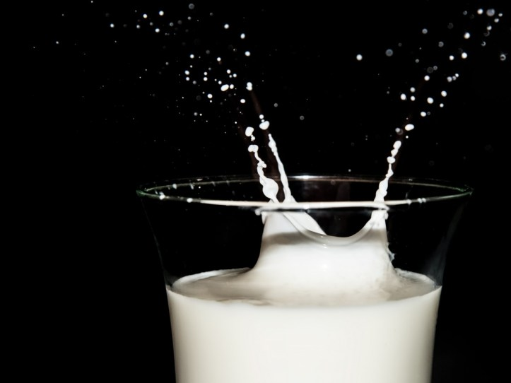 Milk Splash in Glass
