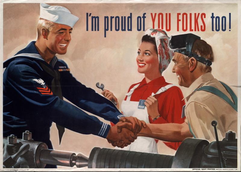 1944 TWI Poster Navy
