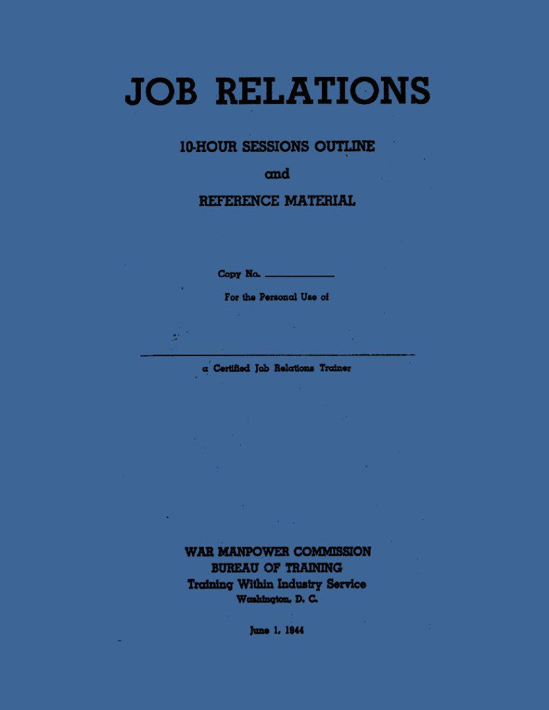Job Relations Cover