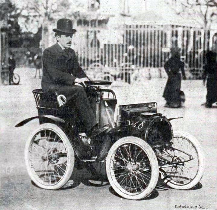 Louis Renault with his first car
