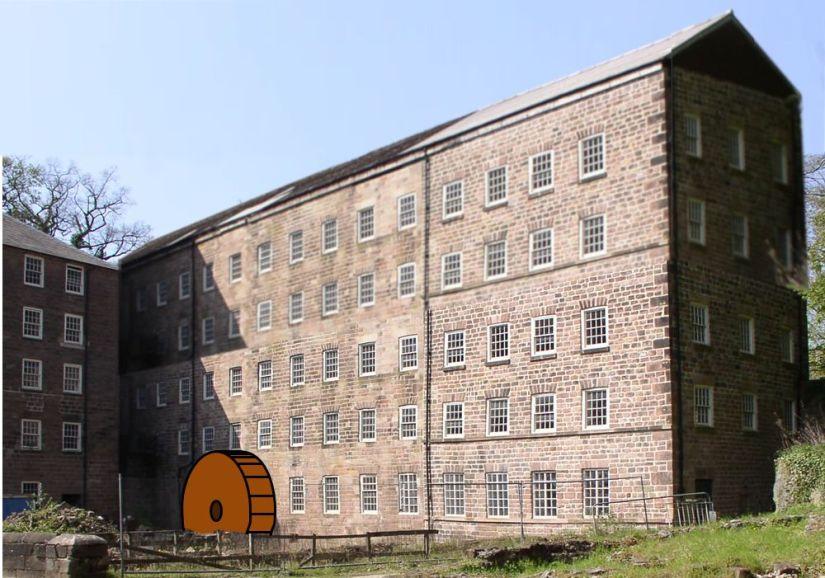 First Cromford Mill Photoshopped