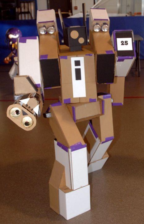 Cardboard Robot US Air Force