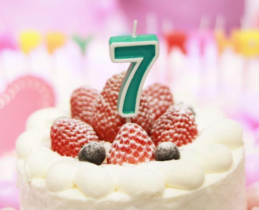 Seventh Birthday Cake