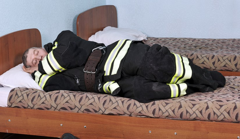 Dressed Sleeping Fireman