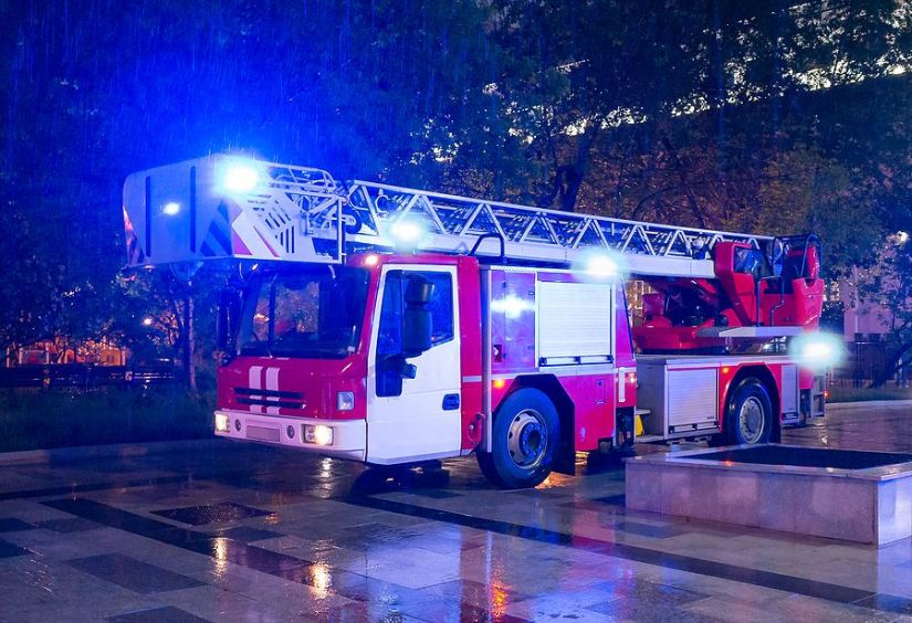 Fire Ladder Engine Flashing