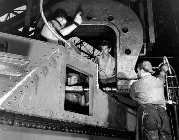 Riveting M3 tank