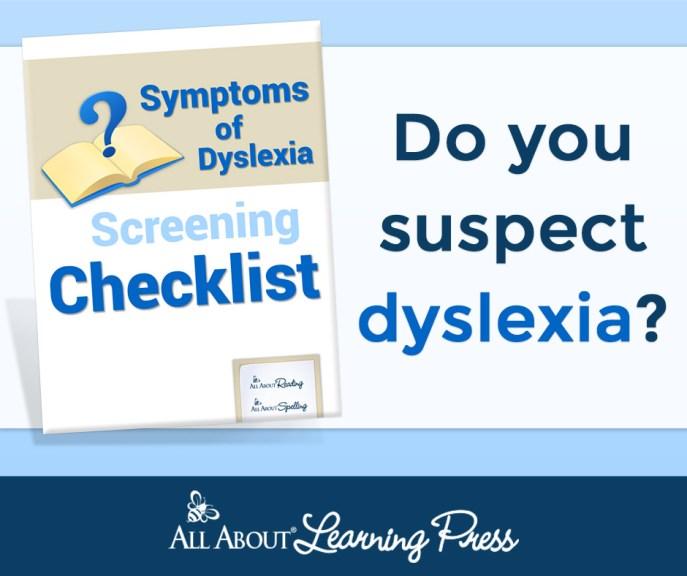 Dyslexia Screening Checklist