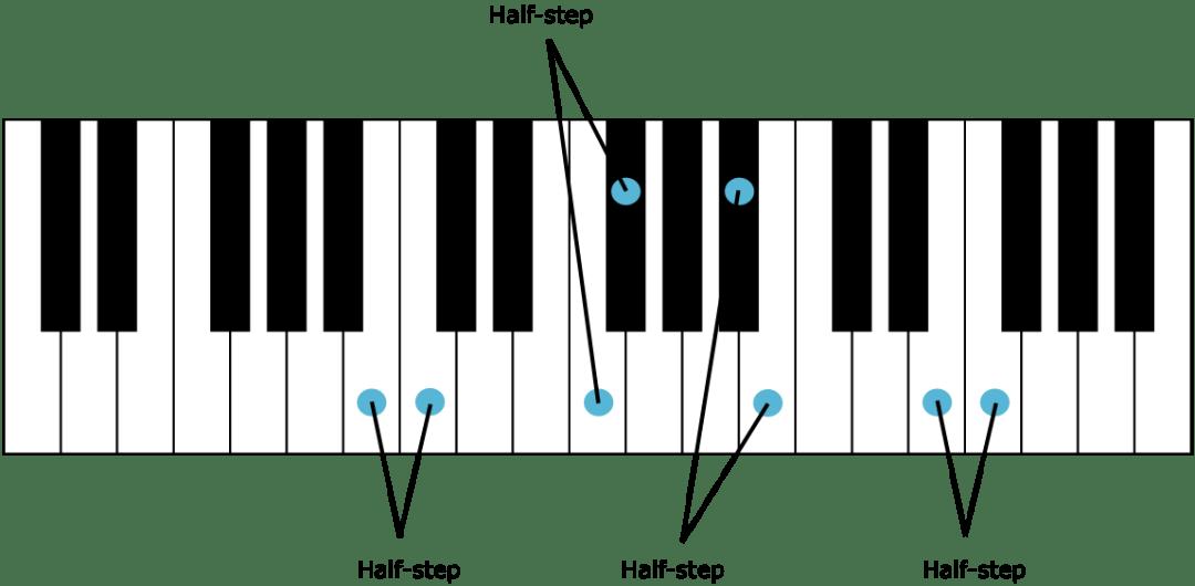 Semitones Half Steps And Whole Tones Whole Steps