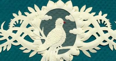 New Papercut with Bird.