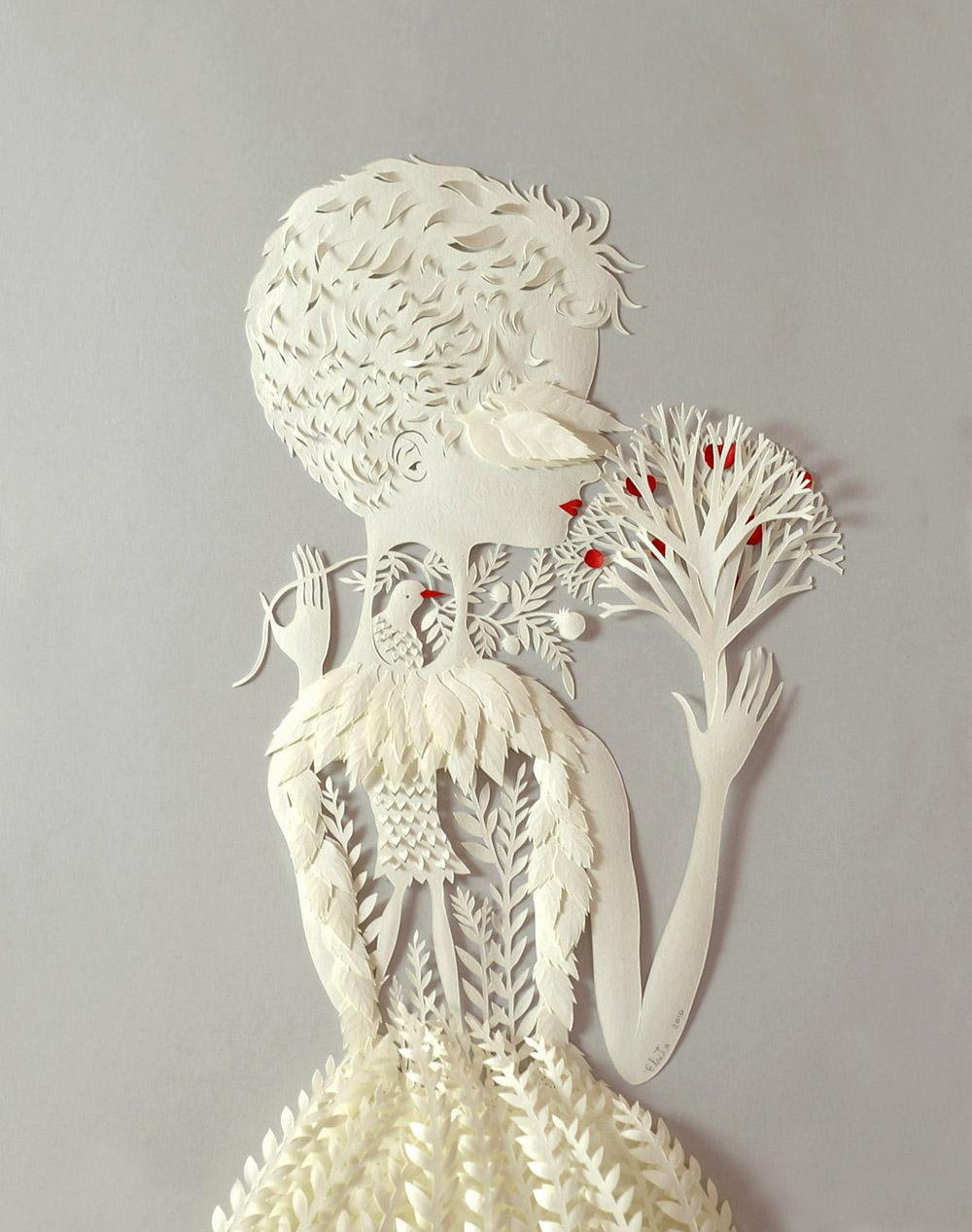 Por Dentro. Paper Sculpture by Elsa Mora