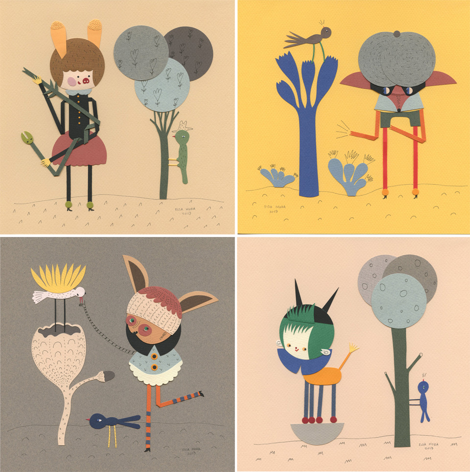 Paper Illustrations.