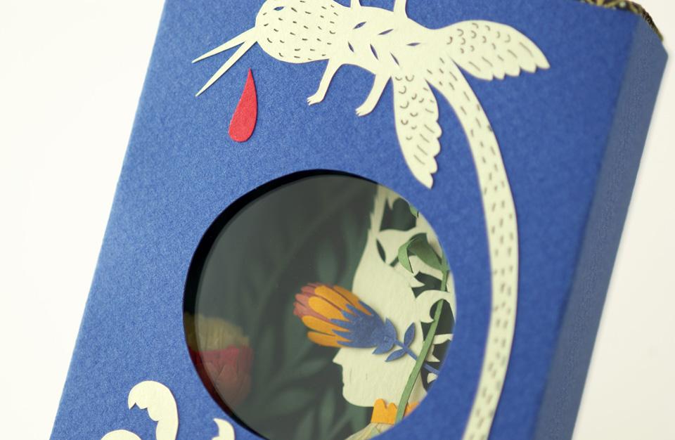 Miniature book detail. By elsa Mora