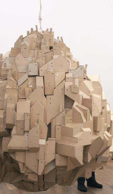 Cardboard Sculpture by Nina Lindgren