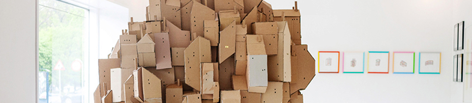 Cardboard Sculpture by Nina Lindgren.