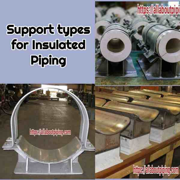 Piping Supports as Per Insulation System: Hot insulated, Cold Insulated, Non-Insulated
