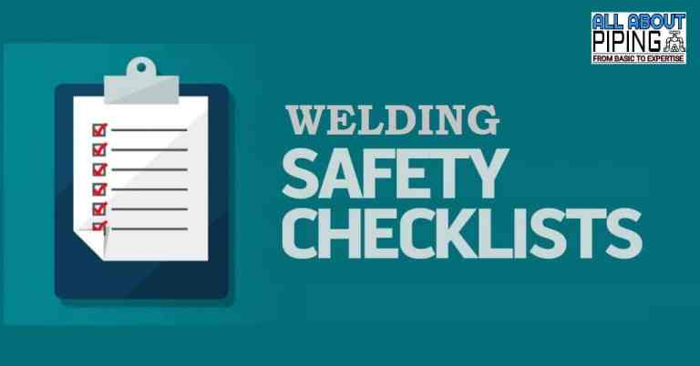 Welding Safety checklist