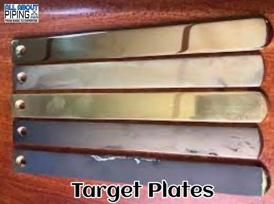 Target plate for steam blowing