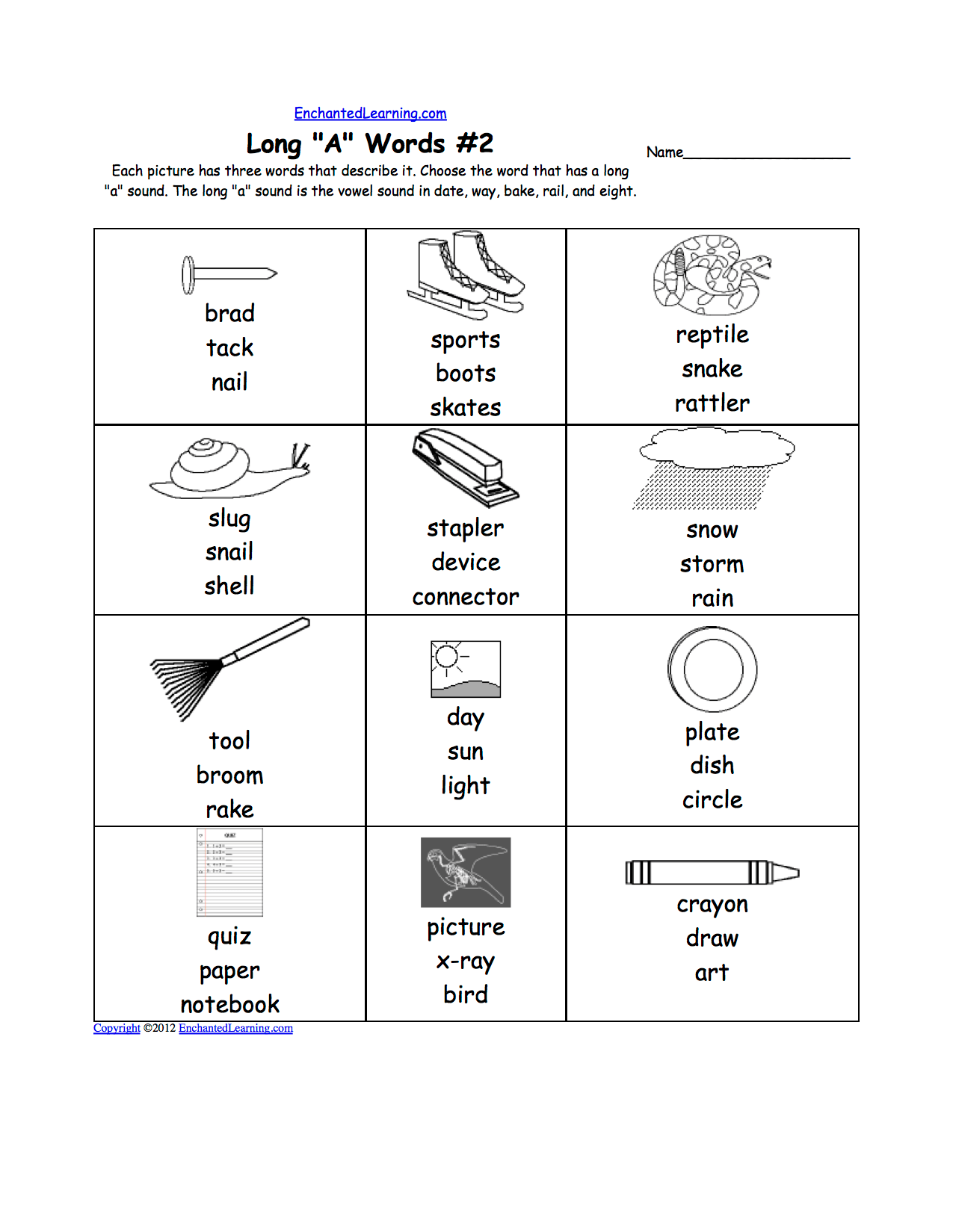 Phonics Worksheet Long O