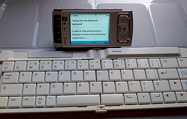 N95 with Bluetooth keyboard