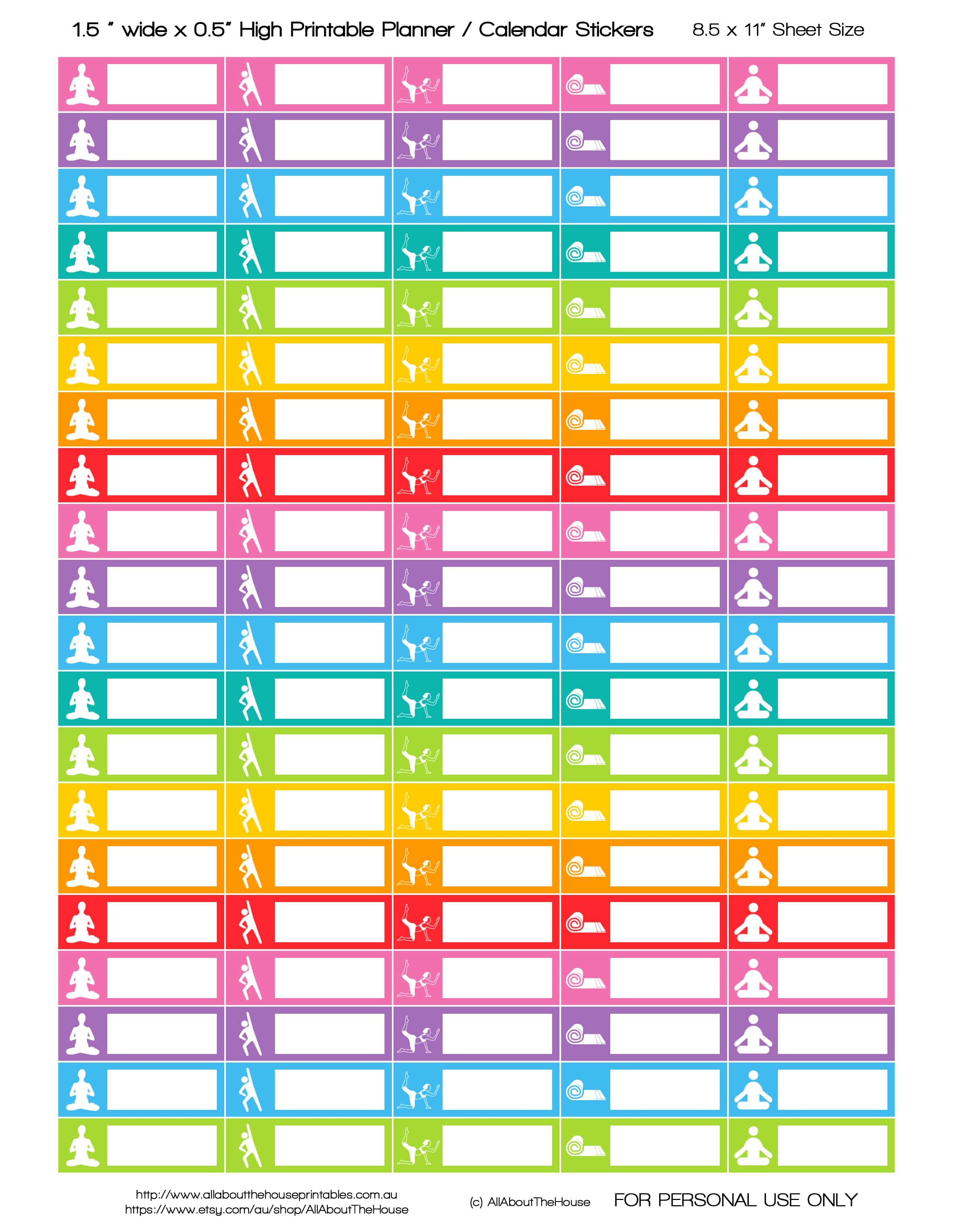 Free Printable Yoga Planner Stickers