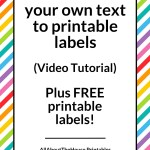 How to add your own text to printable labels (plus FREE printable cleaning labels!)