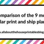 Comparison of the 9 most popular print and ship planners