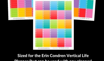 FREE Printable planner stickers – pineapple lists for the Erin Condren vertical Life Planner (or use with any planner)